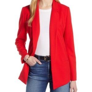 Halogen Women's Red Open Front Blazer Medium NWT